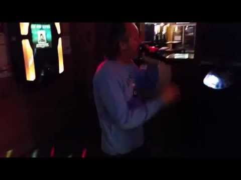 Tom Gibson singing karaoke to Bark at the Moon by Ozzy Osbourne