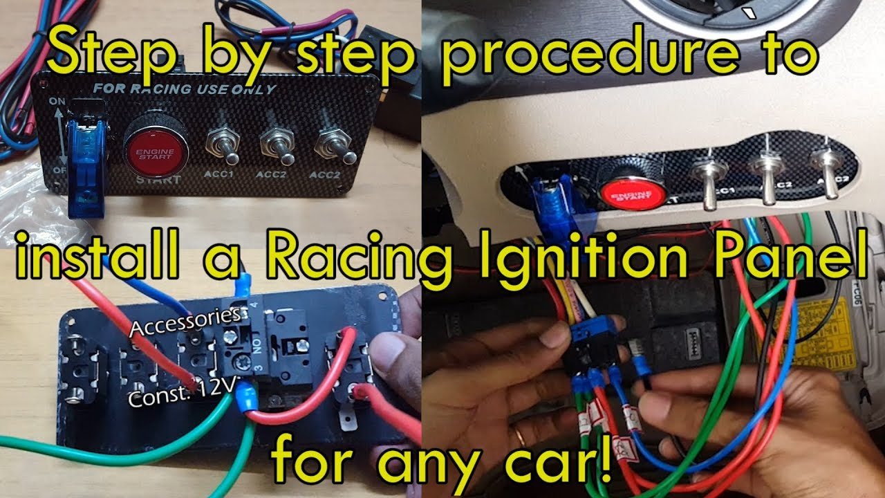 Any Car Racing Ignition Switch Installation  Full