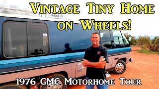 Vintage Tiny Home on Wheels - 1976 GMC Motorhome Tour