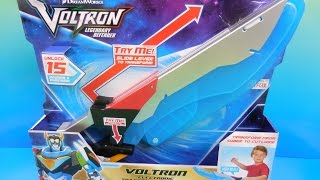 VOLTRON ELECTRONIC TRANSFORMING SWORD VIDEO TOY REVIEW 2017