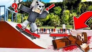 FAKİR KAYKAY SÜRERKEN DÜŞTÜ! 😱 - Minecraft
