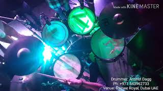 Zara sa - Jannat live at Time Cafe, Ramee Royal, Dubai UAE Drumcam drum cover (Anshul Dagg)