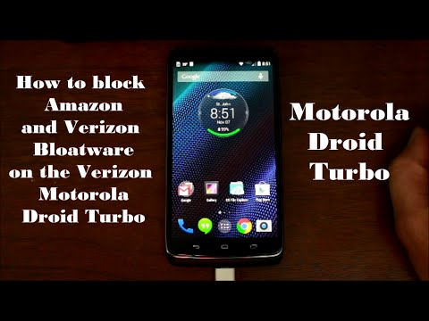 How to Block Remove Verizon and Amazon Apps on the Motorla Droid