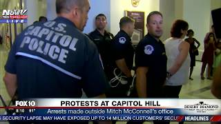 FNN: Capitol Hill Protesters Arrested Outside Mitch McConnell