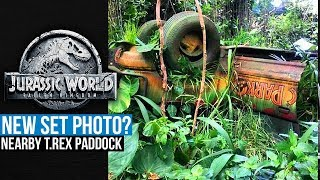 Jurassic World Fallen Kingdom NEW SET PHOTO? The Jeep That Rexy Attacked