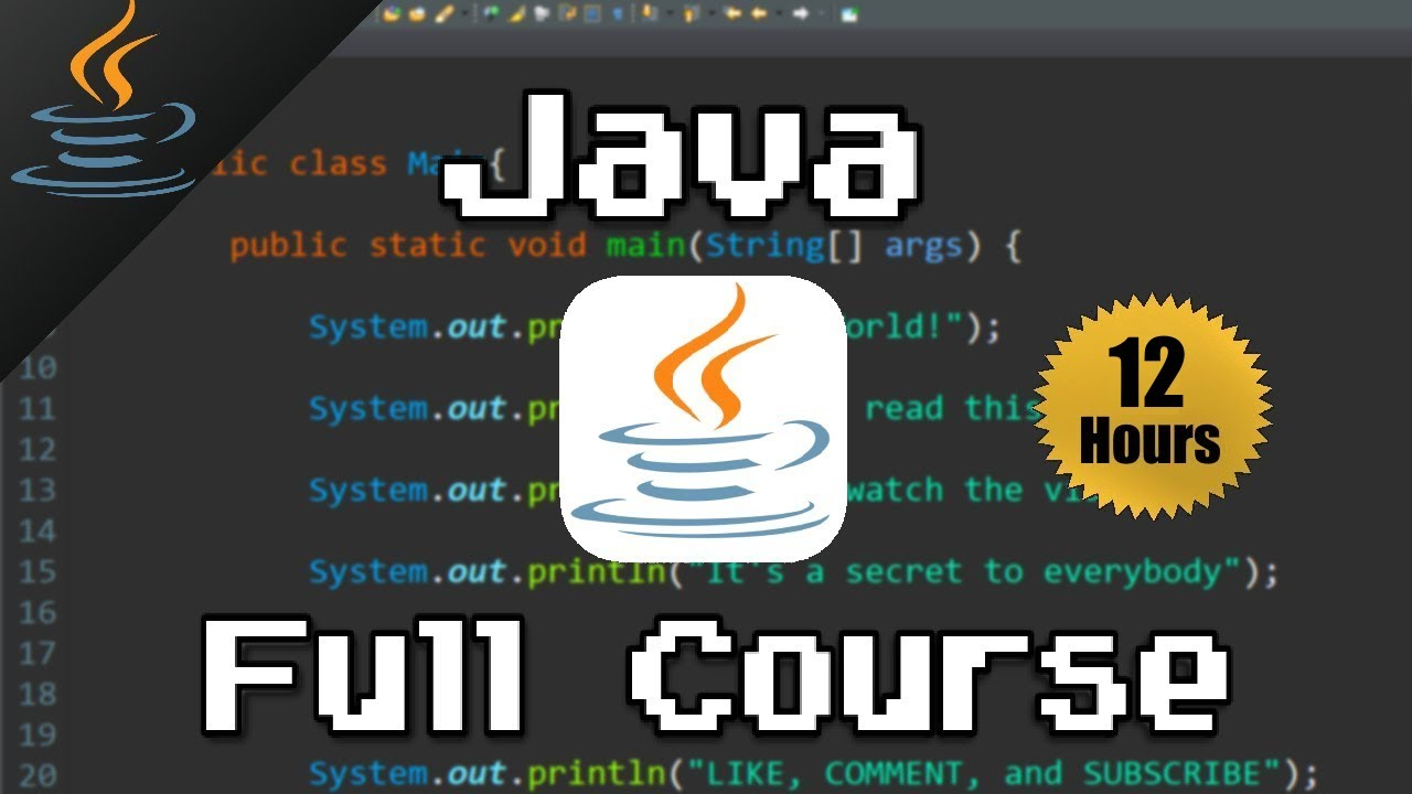 Java Full Course For Beginners ☕ (𝙁𝙧𝙚𝙚)