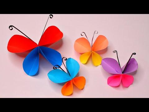 Бабочка из бумаги своими руками из цветной бумаги