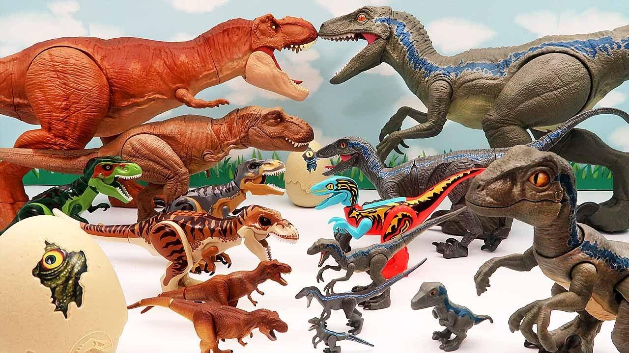 Download 6 Tyrannosaurus VS 6 Velociraptor! Jurassic World Dinosaur Battle