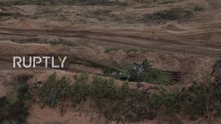Russia: Howitzers, artillery and missiles blast off during St P