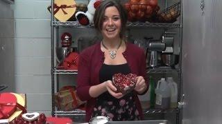 Raspberry Heart-shaped Cheesecake
