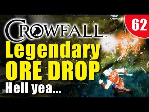 Crowfall Gameplay - Getting a double legendary ore drop!