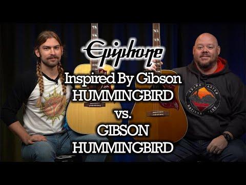 Epiphone Inspired By Gibson Hummingbird vs. Gibson Hummingbird