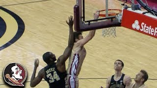 Florida State's Wyatt Wilkes Sets Off FSU Bench With Monster Dunk