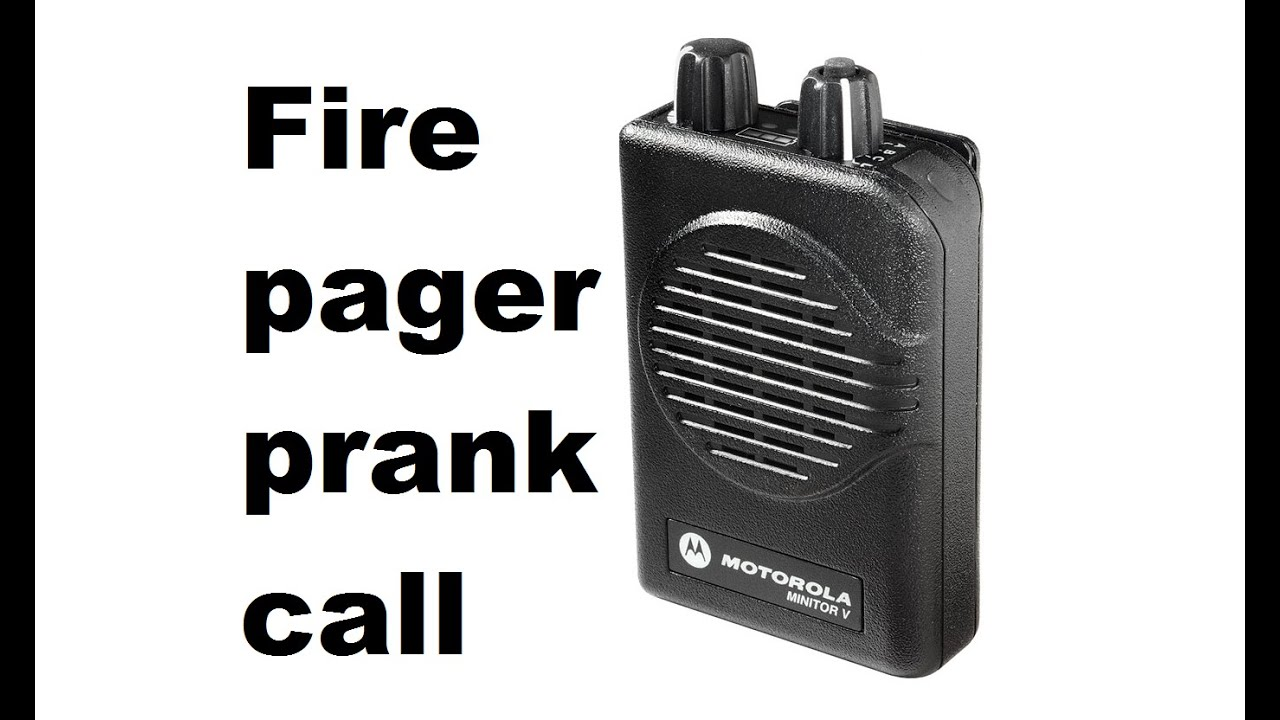 Firefighter Minitor Pager Prank Call - Fake House fire call