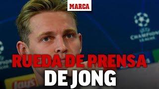 Barcelona-Borussia Dortmund: rueda de prensa de De Jong I MARCA