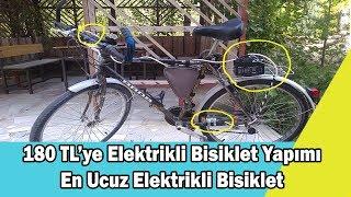 180 TL'ye Elektrikli Bisiklet Yapımı En Ucuz Elektrikli Bisiklet