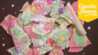 How to Make Magical Coloured Chocolate Bark | Cupcake Jemma