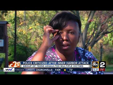 Police criticized after Inner Harbor attack