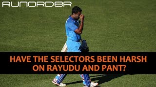 Runorder: Were Rayudu and Pant treated unfairly?