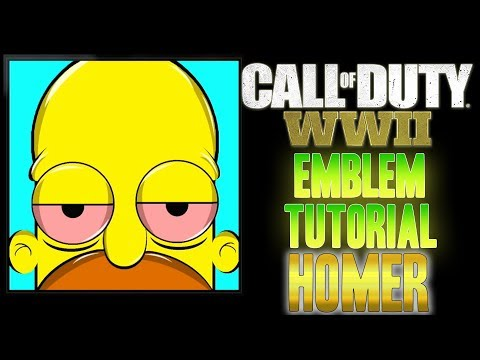 "The Simpsons "" HOMER "" - Call of Duty COD WW2 WWII ( EASY ) Emblem Tutorial"