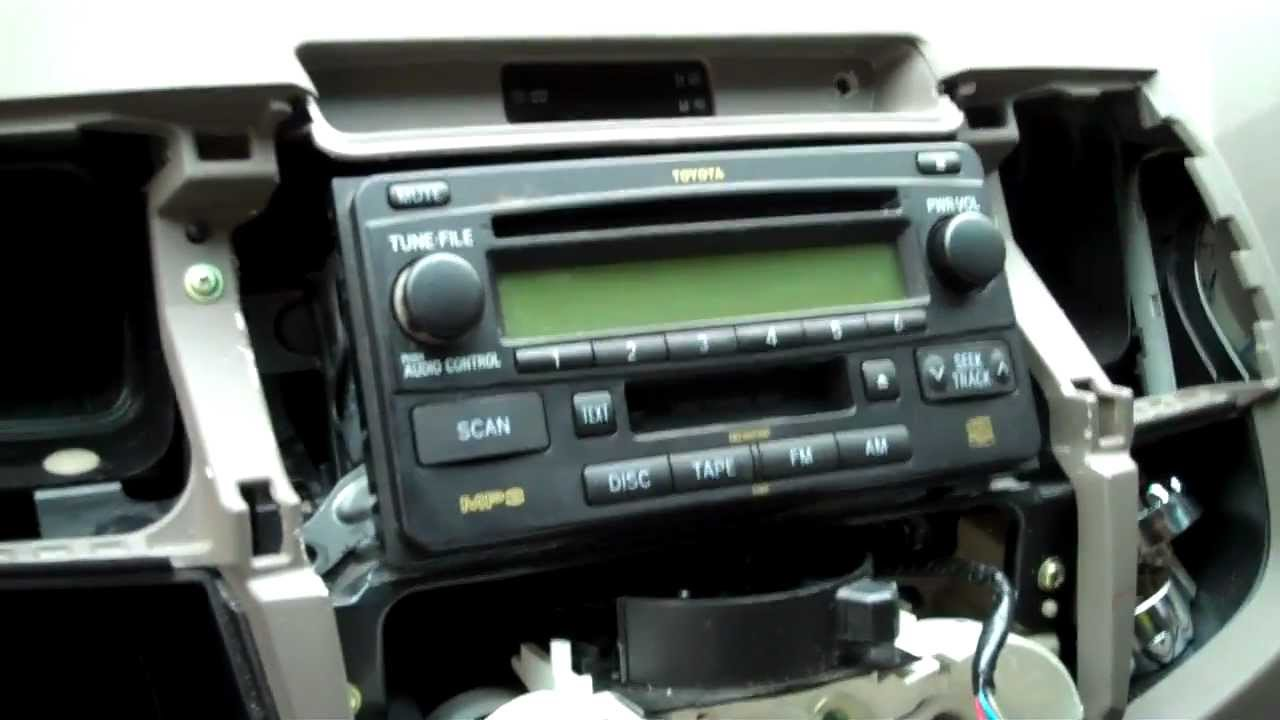 Wiring Diagram Hilux Stereo : How to fit din satnav headunit in toyota hilux mk vigo
