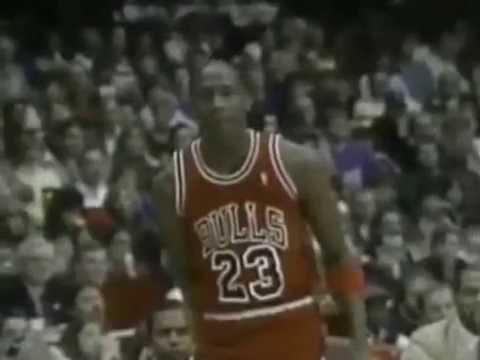 d858c1c9f850 Michael Jordan Two Handed Cradle Dunk 1988 - YouTube