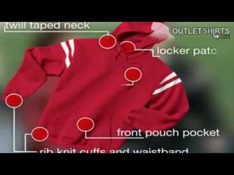 Sport-Tek Hooded Sweatshirt with Shoulder Stripe from Outlet Shirts.flv