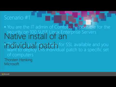 Microsoft Ignite 2015 Compliance and Patch Management for Linux and UNIX in Microsoft System Center