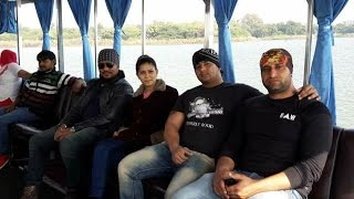 Sapna Haryanvi with Bodyguards