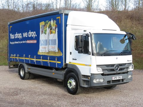 2011 61 Mercedes Atego 1622 16 Ton Curtainsider With Column Tail Lift On Rear Air Suspension