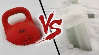 Эксперимент! Гиря 24 кг против льда.(, 2016-01-26T08:45:03.000Z)