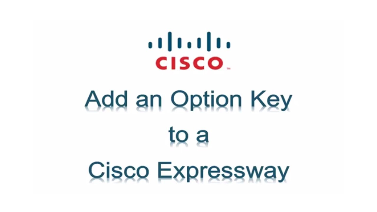 Install an Option Key on a Cisco Expressway Series Device