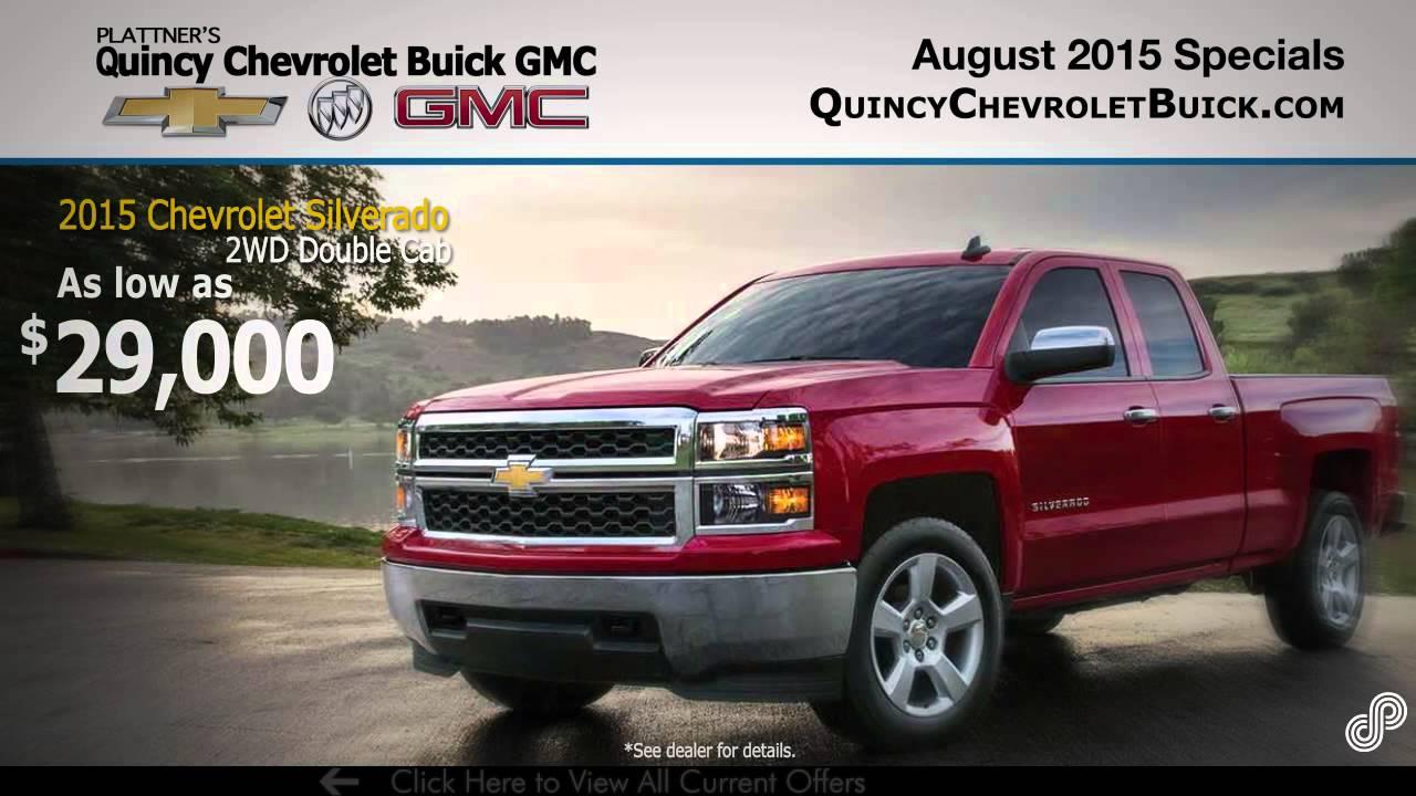 Plattner's Quincy Chevrolet Buick GMC August Offers SPS - YouTube