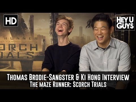 Thomas BrodieSangster & Ki Hong Lee  The Maze Runner: Scorch Trials Exclusive