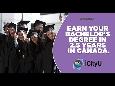 Earn a Bachelor Degree In 2.5 Years In Canada | International Student Webinar | Sprott Shaw College