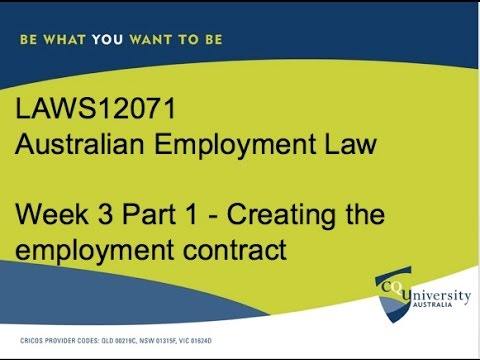 Creating an Employment Contract