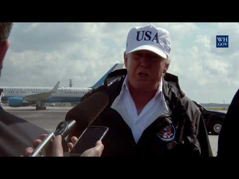 President Trump Delivers a Statement at Fort Myers, FL