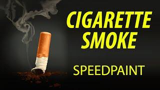 Cigarette Butt & Smoke (SpeedPaint)