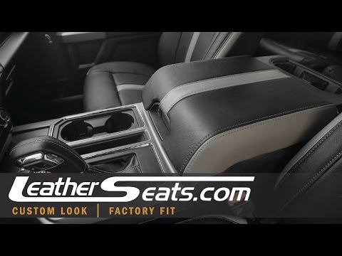 2015 - 2018 Ford F-150 Leather Console Lid Cover Upgrade - LeatherSeats.com