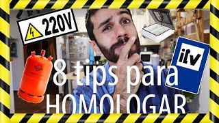 8 Trucos para HOMOLOGAR VEHICULO VIVIENDA! CAMPER Requisitos mínimos. EL MONO MIGRADOR/