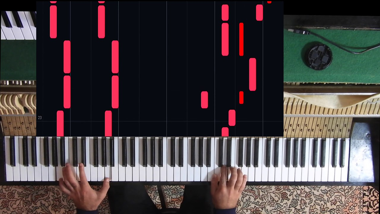 Sur le sol - Lomepal (Synthesia Piano Tutorial)