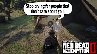 Little Jack Marston is crying because John don't care about him!   Red Dead Redemption 2