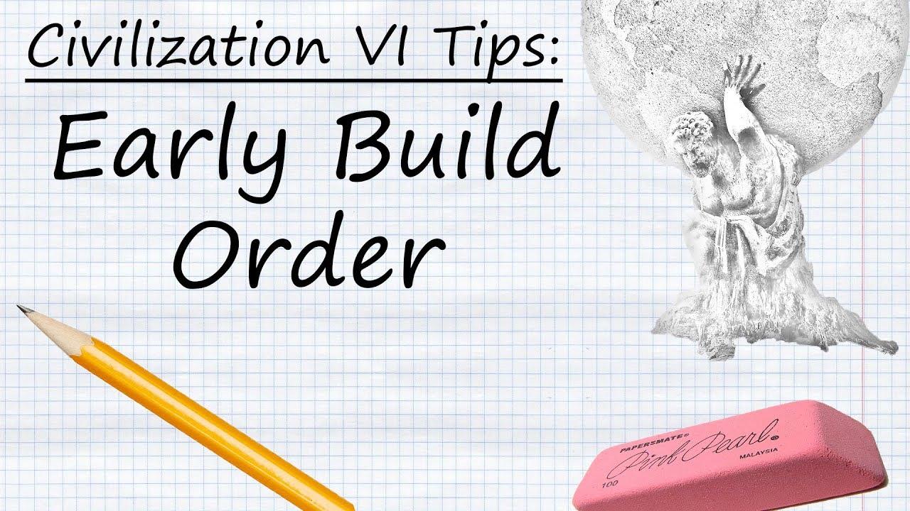 Civilization VI Tips: Early Build Order