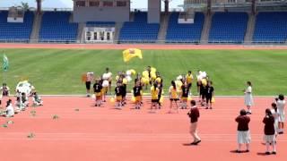 筲箕灣東官立中學第49屆周年陸運會黃社啦啦隊表演