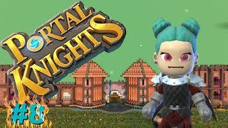 ⭐ Portal Knights Season 2, Episode: 8, Making our very own pool /Building the castle walls.