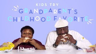 Kids Try Their Grandparent\'s Childhood Favorite Food | Kids Try | HiHo Kids