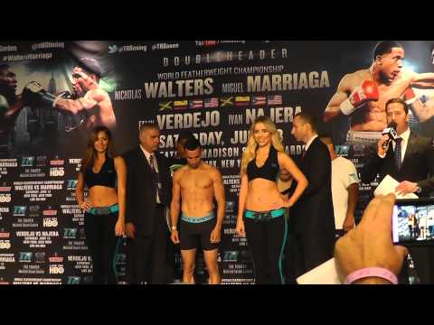 Marcello gallardo vs Christopher Diaz Weight in Ring girl blushes