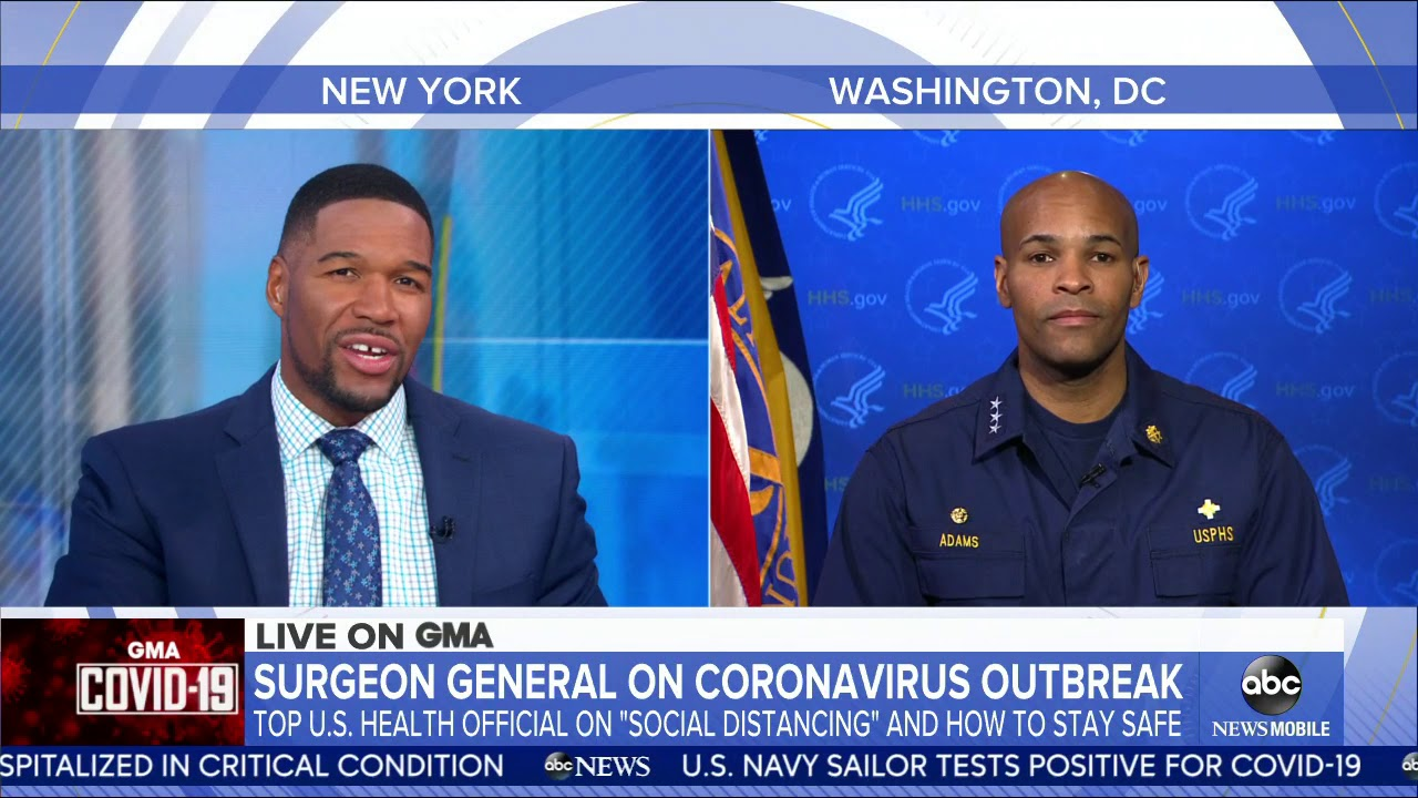 Interview with Dr. Jerome Adams (Surgeon General of the United States) on Good Morning America #Generalsurgery