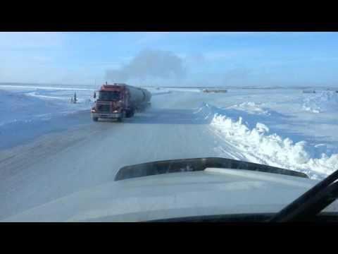 Ice Road To Snap Lake Diamond Mine Yellowknife CA.