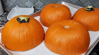 ROASTED PUMPKINS  How To Cook Pumpkins  Easy Baked Pie Pumpkins